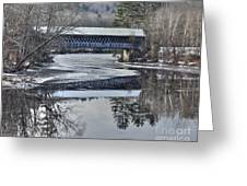 New England College Covered Bridge Greeting Card