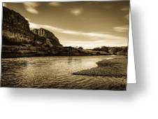 On The Rio Grande River Greeting Card