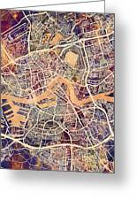 Rotterdam Netherlands City Map Greeting Card
