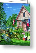 Scenic Garden And Antiques Store Greeting Card
