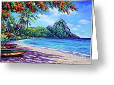 Soufriere Bay St Lucia Greeting Card