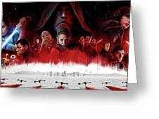Star Wars The Last Jedi  Greeting Card
