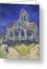 The Church In Auvers Sur Oise  View From The Chevet  Greeting Card