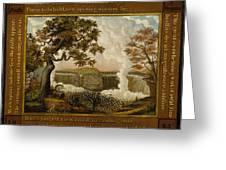 The Falls Of Niagara  Greeting Card