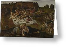 The Fight Between The Lapiths And The Centaurs  Greeting Card