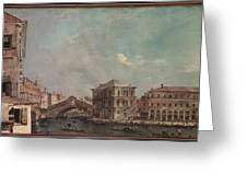 The Grand Canal Above The Rialto  Greeting Card