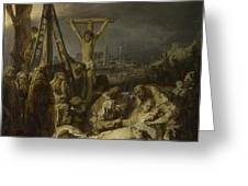 The Lamentation Over The Dead Christ  Greeting Card