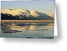 Turnagain Arm And Kenai Mountains Alaska Greeting Card