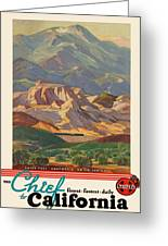 Vintage Poster - California Greeting Card