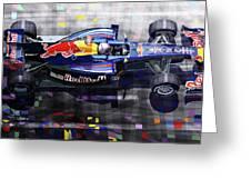 2010 Red Bull Rb6 Vettel Greeting Card