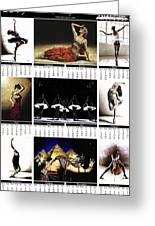 2019 High Resolution R Young Art Dance Calendar - Available Artw Greeting Card