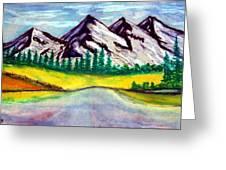 2019#01_mountain Lake Greeting Card