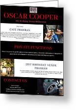 21st Birthday Venue Melbourne Greeting Card