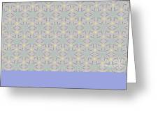 A Repeating Pattern Featuring A Multi-colored Conceptual Flower  Greeting Card