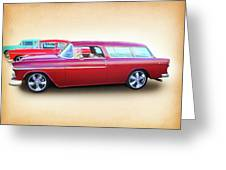 3 - 1955 Chevy's Greeting Card