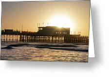 Beautiful Vibrant Sunrise Landscape Image Of Worthing Pier In We Greeting Card