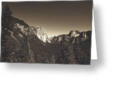 Beautiful Yosemite Valley Greeting Card