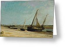Boats On The Seacoast At Etaples  Greeting Card