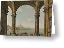 Capriccio With St. Pauls And Old London Bridge Greeting Card