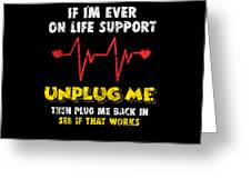 Computer Restart Geek Pun Apparel Greeting Card