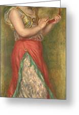 Dancing Girl With Tambourine  Greeting Card