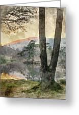 Digital Watercolor Painting Of Beautiful Landscape Image Of Tarn Greeting Card
