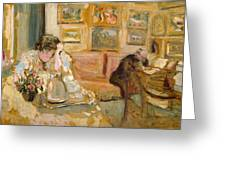 Jos And Lucie Hessel In The Small Salon  Rue De Rivoli  Greeting Card