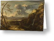 Landscape With Tobias And The Angel  Greeting Card