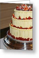 3 Layer Wedding Cake Greeting Card