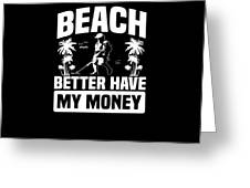 Metal Detector Beach Sweep Beep Dig Apparel Greeting Card
