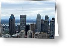Montreal Skyline Greeting Card