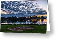 Obear Park Sunset Greeting Card
