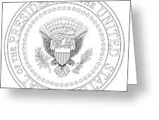 Presedent Seal Greeting Card
