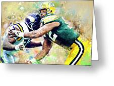 Reggie White. Green Bay Packers. Greeting Card