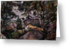 Rocks In The Forest  Greeting Card