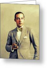 Rudolph Valentino, Vintage Actor Greeting Card