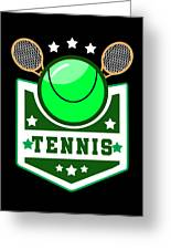 Tennis Player Tennis Racket I Love Tennis Ball Greeting Card