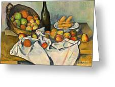 The Basket Of Apples Greeting Card