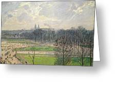 The Garden Of The Tuileries On A Winter Afternoon  Greeting Card