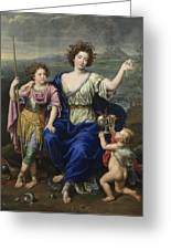 The Marquise De Seignelay And Two Of Her Sons  Greeting Card