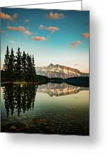 Two Jack Lake And Mount Rundle Greeting Card