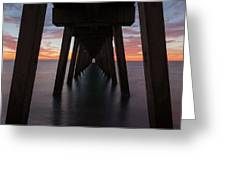 Venice Pier Sunset Greeting Card by Paul Schultz