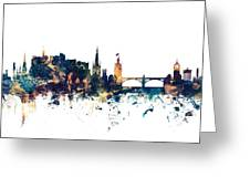 Edinburgh Scotland Skyline Greeting Card