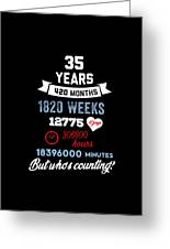 35 Years Old But Who Is Counting Funny Birthday Greeting Card