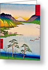 36 Views Of Mt.fuji - Shinshu Suwa Lake Greeting Card