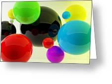 3d Balls Greeting Card