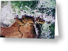 Aerial View Of The Beach, Newport Greeting Card