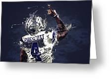 Dallas Cowboys.dak Prescott. Greeting Card
