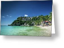 Diniwid Resort Beach View In Tropical Paradise Boracay Island Ph Greeting Card