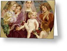 Madonna Of Giverny  Greeting Card